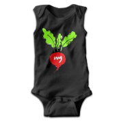 YiYa Infants Boy's & Girl's Carrot Short Sleeve Baby Climbing Clothes For 0-24 Months Black
