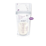 Philips AVENT Breast Milk Storage Bags, Clear, 180ml, 100 Pack