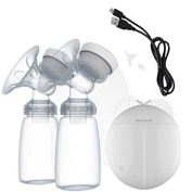 LBZEZR Baby Electric Double Breastfeeding Pumps Milk Suction Device Automatic