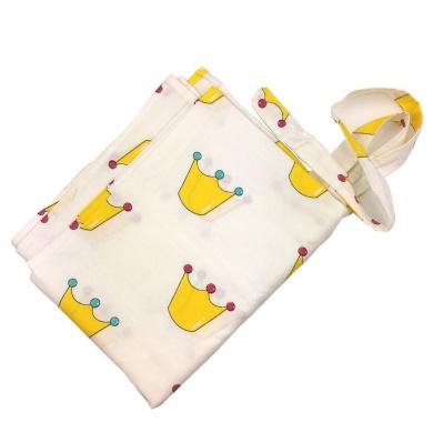 Organic Cotton Nursing Cover for Baby Nursing Breast Feeding Cover Burp Cloth Scarf Chevron Printing