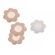 Non-Woven Flower 10 Pairs Disposable Fabric Nipple Covers Sticker Breast Pasties Pad