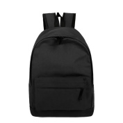 Anshinto Men Women Simple Style Pure Canvas Backpack College School Book Bag