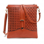 Anshinto Women Leather Satchel Handbag Shoulder Tote Messenger Flaps Crossbody Hobo Bag