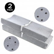 Changing Pad Cover Grey-BROLEX 2 Pack Baby Nappy Change Pad Covers-Stars & Polka Dots Style,Changing Table Pad Covers