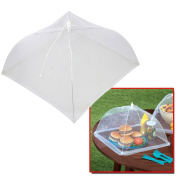 5starwarehouse® Fresh Pop Up FOOD COVER Storage White Umbrella Kitchen Cake Baking BBQ Insect Repellent Cover Fly Wasp