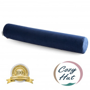 Cosy Hut Comfort Memory Foam Neck Roll Pillow Lightweight Round Cervical Support Pillow for Spine and Neck Back Support 60cm X 10cm .