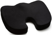 Coccyx Tailbone Seat Cushion - Memory Foam Spinal Support Chair Pad with Washable Slipcover - For Sciatica and Back Pain Relief - by BodyHealt