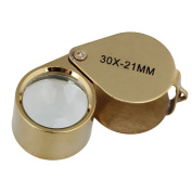 RDEXP Golden 30X21mm Magnification Optical Glass Lenses Jeweller Loupe Eye Magnifying Magnifier