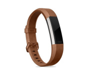 Fitbit Alta HR and Alta Leather Accessory Band, Brown, Large