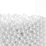 Art Faux Pearls, PeleusTech Makeup Brush Holder Pearls 1500Pcs Diameter 6mm Art Faux Pearls Make Up Brush Holder Accessories - Pure White
