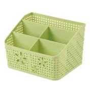 Kaimao 5 Grid Sub-grid Plastic Storage Box Desktop Classification Organiser Holder Storage Case Basket Container for Remote Controller Cosmetic Holder - Green