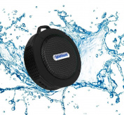 Splashsound Shower Speaker - Waterproof Bluetooth Shower Speaker with Suction Cup, Hanging Clip and Micro SD Card Slot – Clear 5W Audio Output