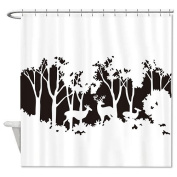 HANHAOKI Stylish Fawn in the Forest Pattern Waterproof Polyester Fabric Kids Bathroom Shower Curtain liner 170cm x 180cm