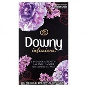 Downy Infusions Lavender Serenity Fabric Softener Dryer Sheets, 90 sheets