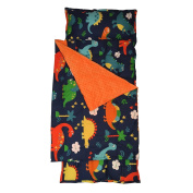 H & T Toddler Nap Mat with Minky Dot Blanket - Dinosaur