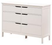 Angel Line Lauren 6 Drawer Dresser, White