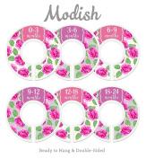 Modish Labels Baby Nursery Closet Dividers, Closet Organisers, Nursery Decor, Baby Girl, Flowers, Floral Decor, Roses