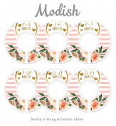 Modish Labels Baby Nursery Closet Dividers, Closet Organisers, Nursery Decor, Baby Girl, Hearts, Flowers, Pink, Stripes
