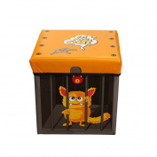 KMMall Waterproof Kids Storage Box with Lid Foldable Kids' Toy Storage Bin Box Children Toy Chest and Trunk - Can Be Used as A Seat