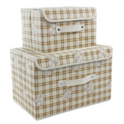 2PCS Unique Storage Laundry Basket Bags Clothes Hamper Storage Foldable Toy Covered Organiser-A01