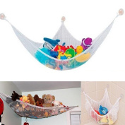 Techinal New Toy Hammock Net Keeping the Rooms Clean,Organised,and Clutter-free 80cm x 60cm x 60cm
