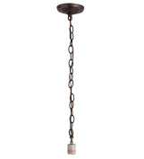 13cm W Mahogany Bronze 1 Lt Pendant Hardware LAMP BASES AND FIXTURE HARDWARE