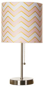 Glenna Jean Cottage Collection Audrey Mod Lamp, Chevron