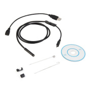 Android 6 LED 7mm Lens Endoscope Waterproof Inspection Borescope Tube Camera 1M,Tuscom