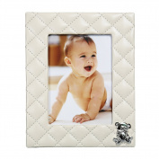 Baby Photo Frame Teddy Plaid Beige 13cm x 18cm by Modali Baby USA