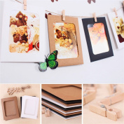 Toonol 10pcs/set 1.3cm Kraft Paper Photo Frame for Pictures Vintage Frame Photo DIY Baby Photo Frame Wedding Photo Frame Wall Decoration
