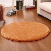 Noahas 1.2m Luxury Round Area Rugs Super Soft Living Room Bedroom Carpet Woman Yoga Mat, Khaki