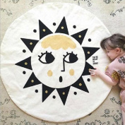 Hiltow Cartoon Sun Face Area Rugs (Diameter:100cm ), Moden Floor Rug Mat Collection for Children Living Dining Room Home Decoration