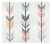 Accent Floor Rug Bedroom Décor for Grey, Coral and Mint Woodland Arrow Girls Kids Bedding Collection