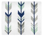 Accent Floor Rug Bedroom Décor for Grey, Navy and Mint Woodland Arrow Kids Bedding Collection