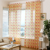"LADEY One Piece Five Leaf Flowers Style Sheer Window Voile Curtain ""100cm ×""200cm"