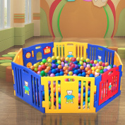 JAXPETY Baby Playpen Kids 8 Panel Safety Play Centre Yard Home Indoor Outdoor New Pen