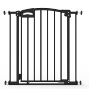 Perma Child Safety Ultimate Secure Handle Safe Step Auto Close Doorway Gate, Black, Large