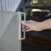 Perma Child Safety Outdoor Retractable Gate, Grey, Extra Wide/Large