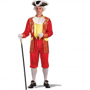 Carnival Toys 83622 Cavallier Top Trousers Fancy Dress Costume, Medium to Large, Red