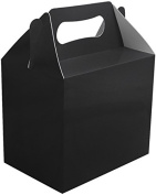 12X Black Birthday Wedding Engagement Party Boxes for Toys Gifts Cake Lunch Loot Bag