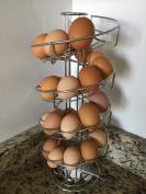 Toplife Spiral Design Stainless Steel Egg Skelter Dispenser Rack,Storage Display Rack