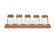 Garden Trading Cork Spice Rack - Five Jars