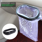 KKmoon 2pcs Auto Trash Bag for Rubbish Garbage Can Universal Portable Kitchen / Car Rubbish Bag ABS Clip Auto Vehicle Garbage Bags Frame Trash Holder Rack