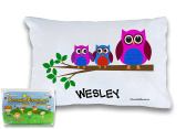 """Customizable, """"3 Little Owls"""" Pillowcase. Personalised With Your Child's Name - Perfect Gift For Little Girls Or Boys Of All Ages!"""