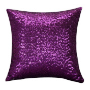 XUANOU Shining Solid Colour Glitter Sequins Throw Pillow Case Cafe Home Decor Cushion Covers