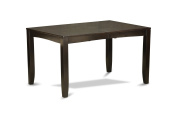 East West Furniture LYT-CAP-T Rectangular Dining Table with Butterfly Leaf, 90cm by 170cm , Cappuccino Finish