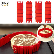 Asunflower Silicone Bake Cake Moulds Kitchen DIY Muffin Mould /Maker - 4 PCS