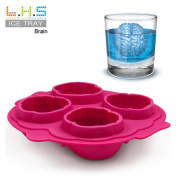 SANNYSIS Brain Shaped Ice Tray Mould Silicone Party Drink Ice Tray Zombie Party Fun