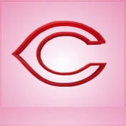 Sports Letter C Cookie Cutter 7.6cm tall, 10cm - 0.6cm wide Red