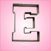 Varsity Letter E Cookie Cutter 11cm (metal) aluminium